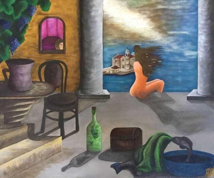 Rosa Bobana Čukić Ćorović - akvarel na platnu, 50x60cm, cijena 450€